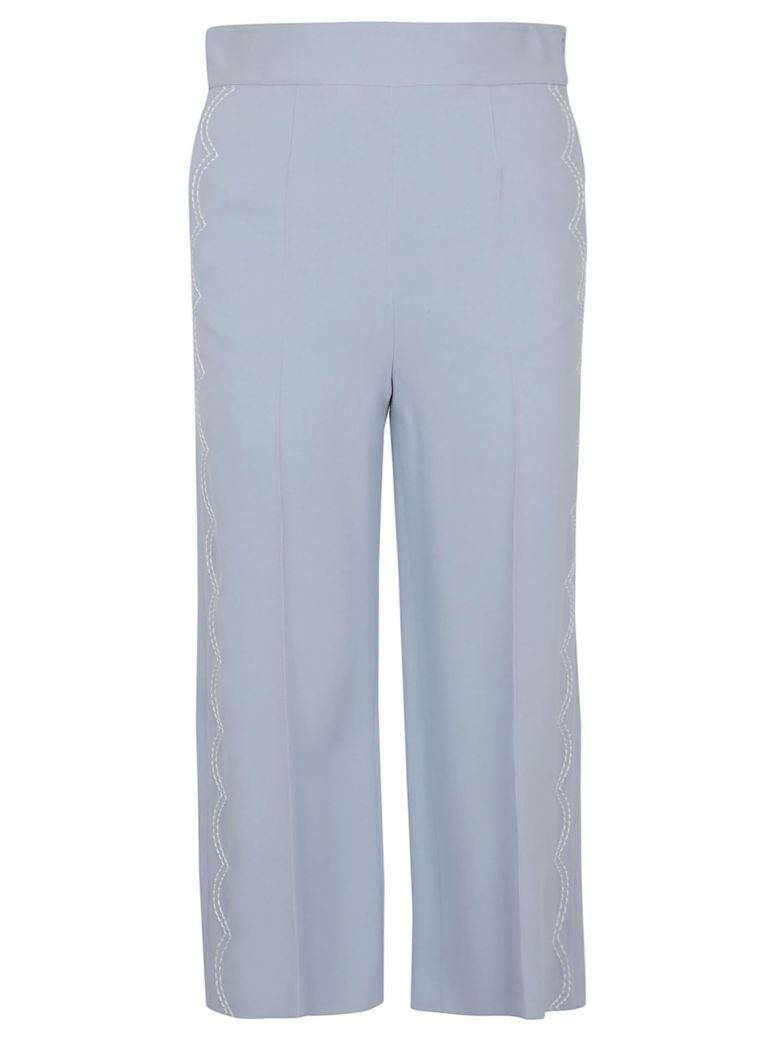 RED Valentino Scalloped Stitch Trousers - Sky