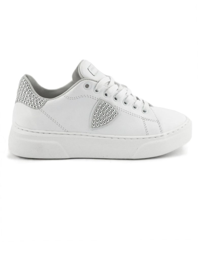 Philippe Model White Leather Temple Femme Sneaker - White