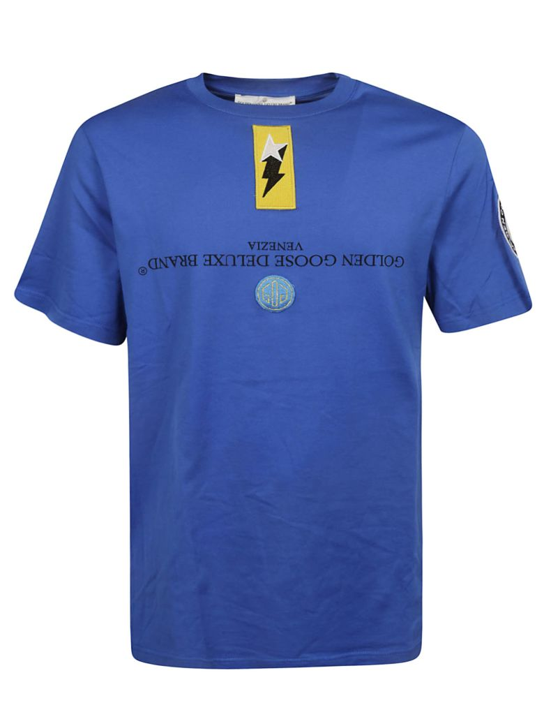 Golden Goose Logo Patch T-shirt - Bluette Patch