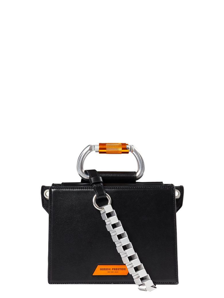 HERON PRESTON Carabinier Leather Bag - Nero