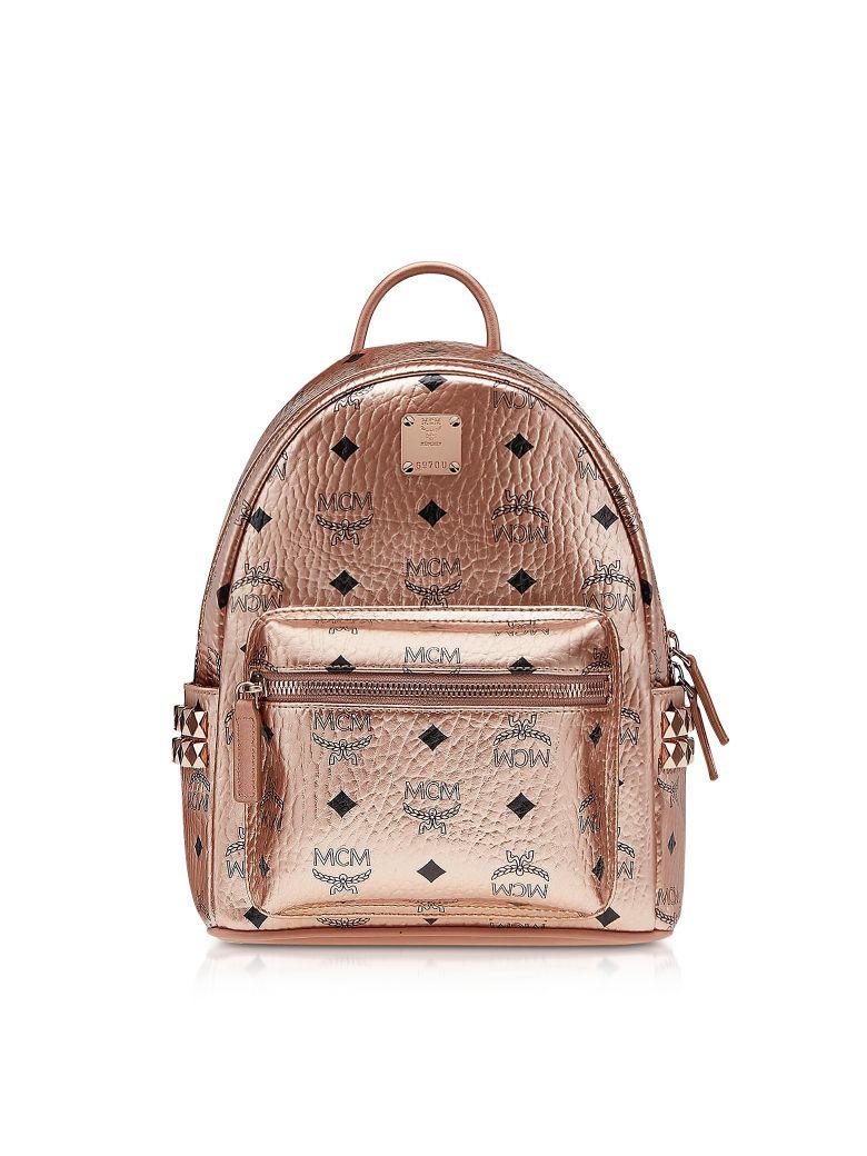 MCM Champagne Gold Mini Stark Backpack - Gold