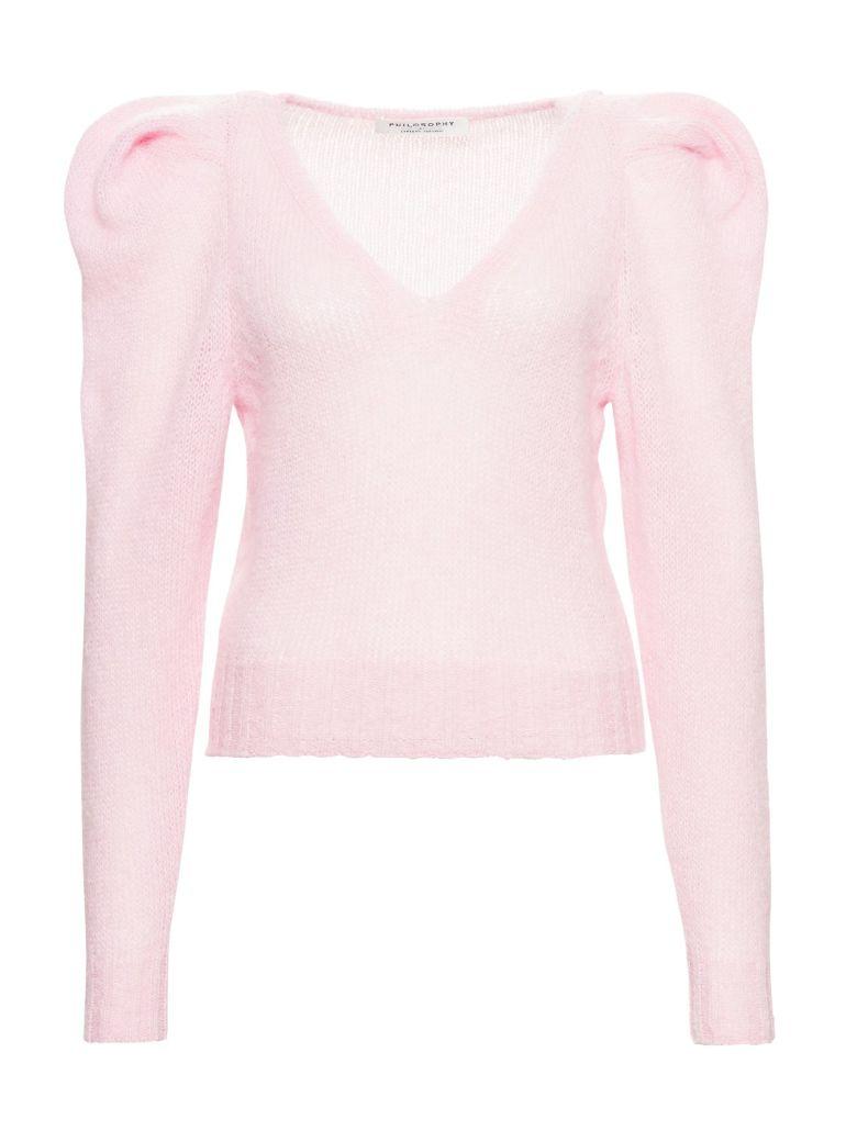 Philosophy di Lorenzo Serafini Sweater With Puffed Sleeves - Pink