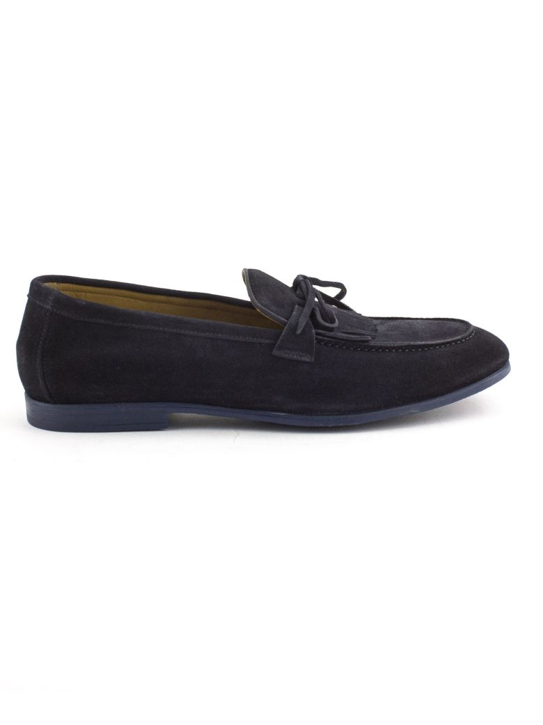 Doucal's Blue Suede Loafer - Blu