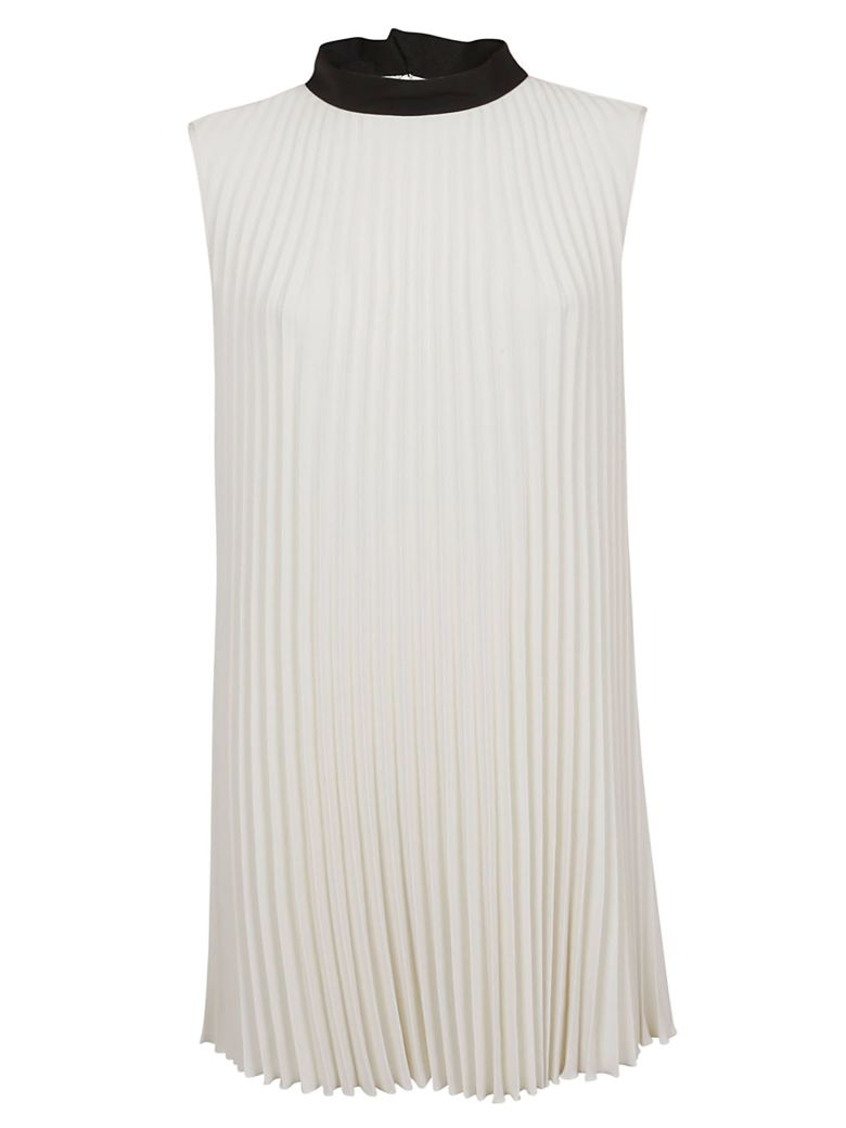RED Valentino Pleated Shift Dress - G Panna