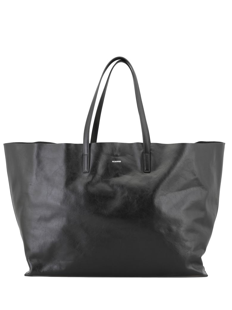 Jil Sander Large Shopping Bag - BLACK