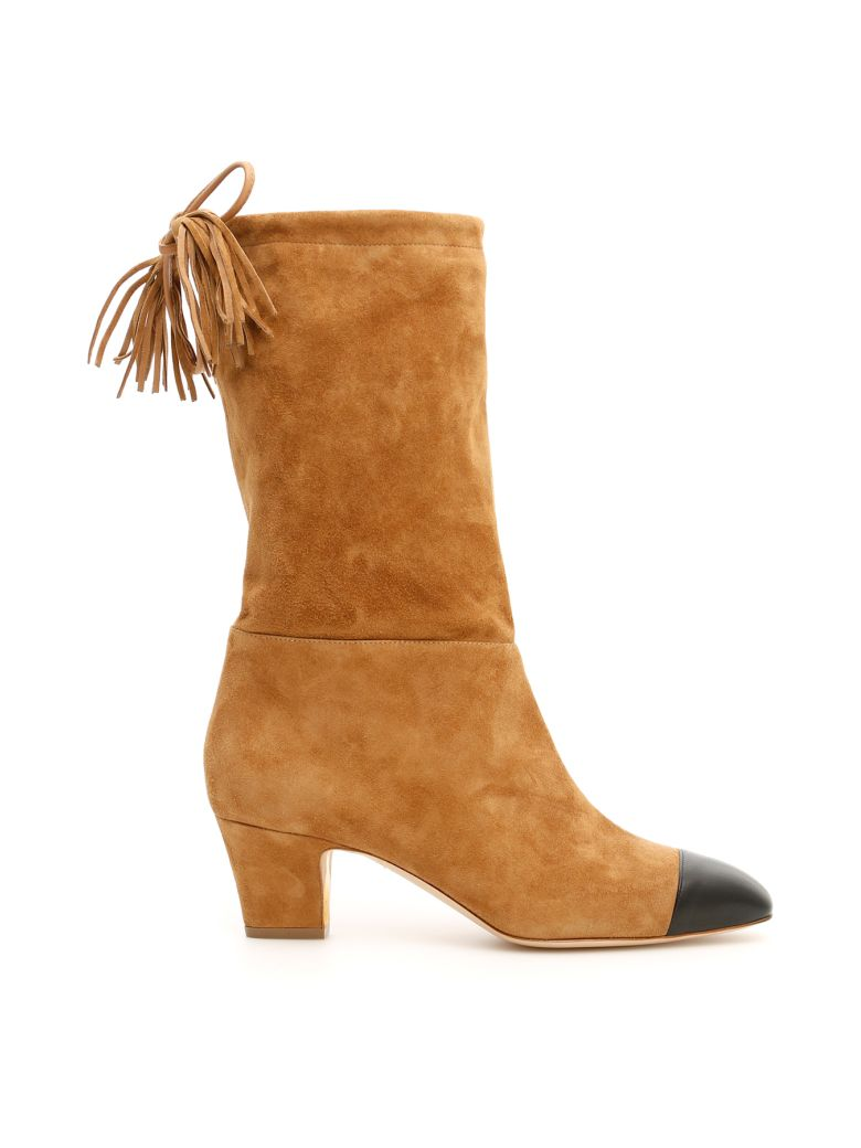 Rupert Sanderson Tiptoe Boots - BLACK SUNGLOW|Marrone