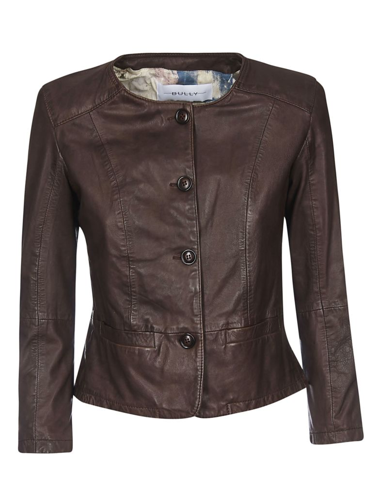 Bully Buttoned Jacket - Brown