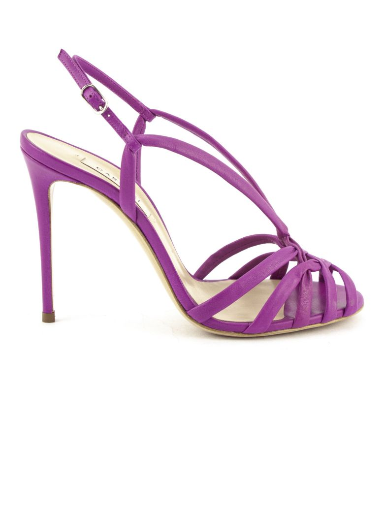 Casadei Fuchsia High-heel Minorca Sandals - Fuxia