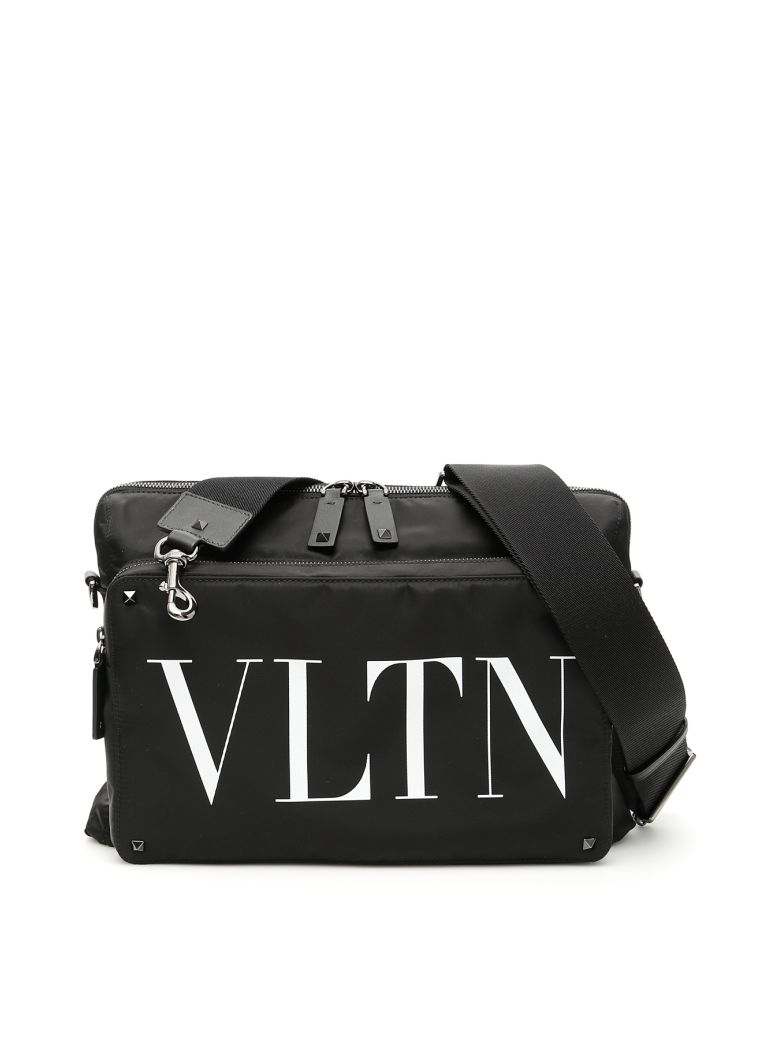 Valentino Vltn Messenger Bag - NERO BIANCO|Nero