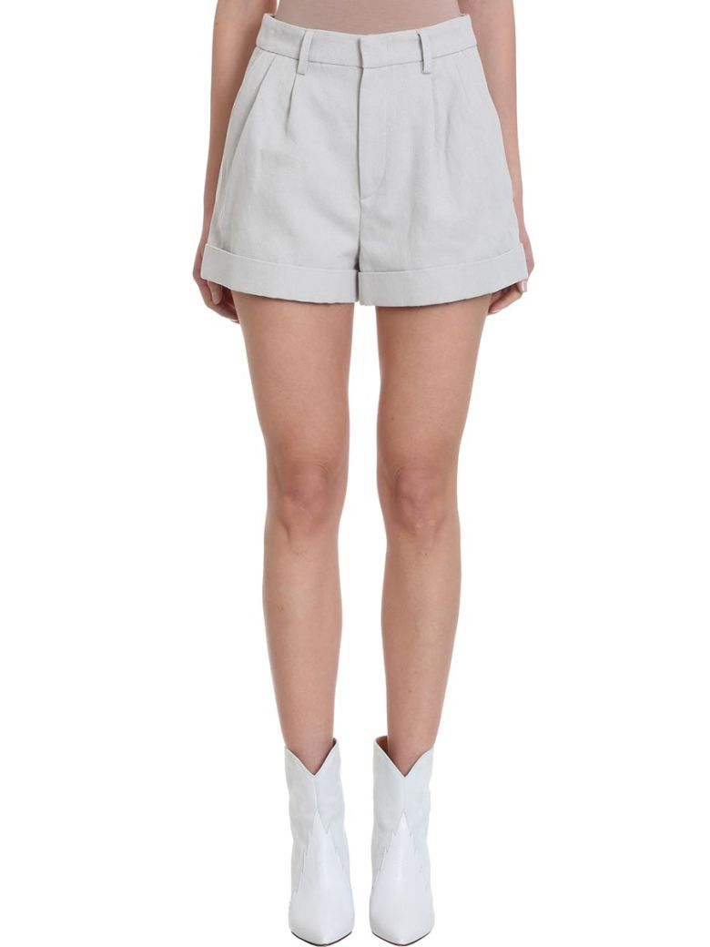Isabel Marant Kab Beige Cotton-linen Blend Shorts - grey