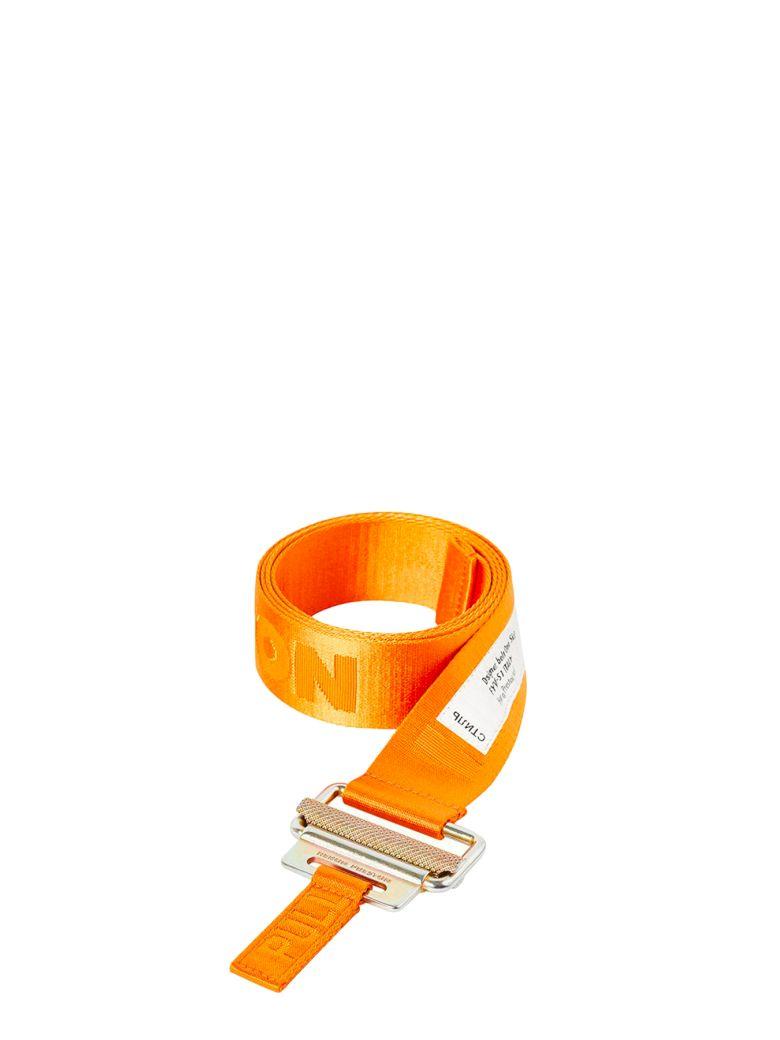HERON PRESTON Classic Buckle Tape Belt - Arancio/nero