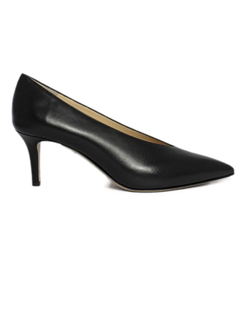 Fabio Rusconi Pump In Black Leather - Nero