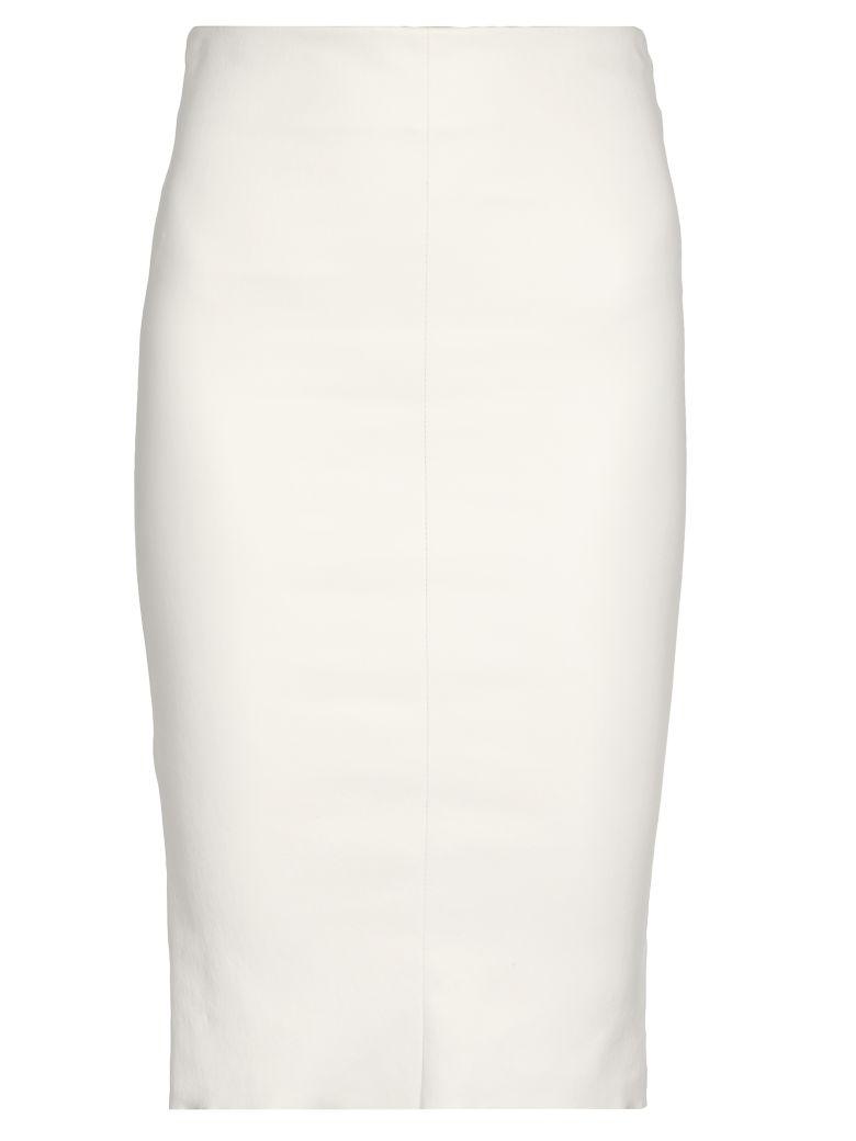 DROMe Leather Skirt - WHITE