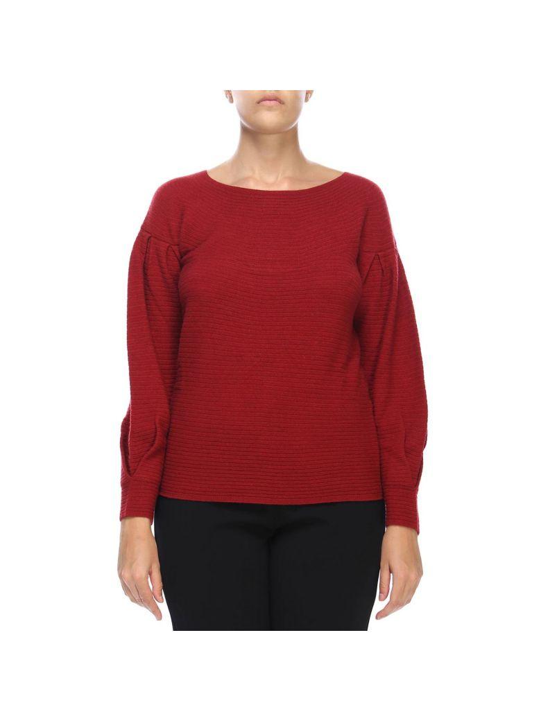 Marina Rinaldi Sweater Sweater Women Marina Rinaldi - burgundy
