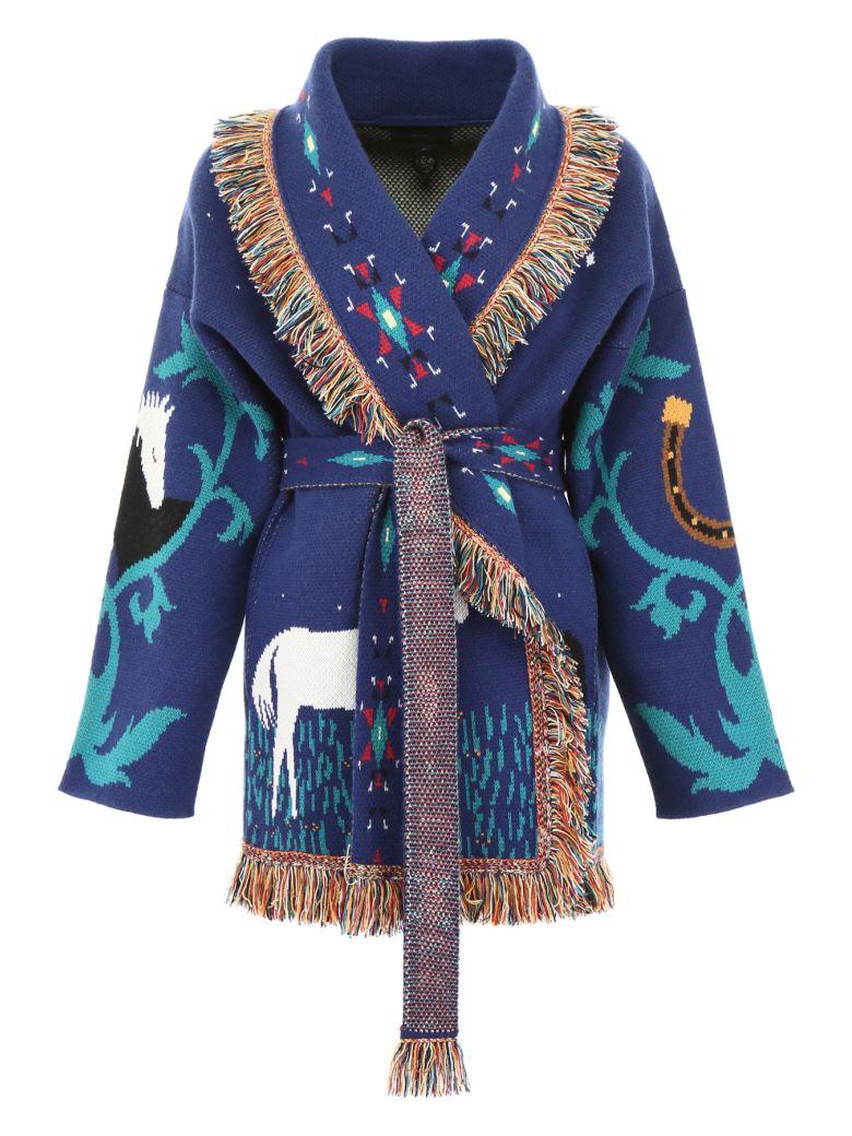 Alanui Horses In Love Cardigan - NEPTUNE BLUE (Blue)
