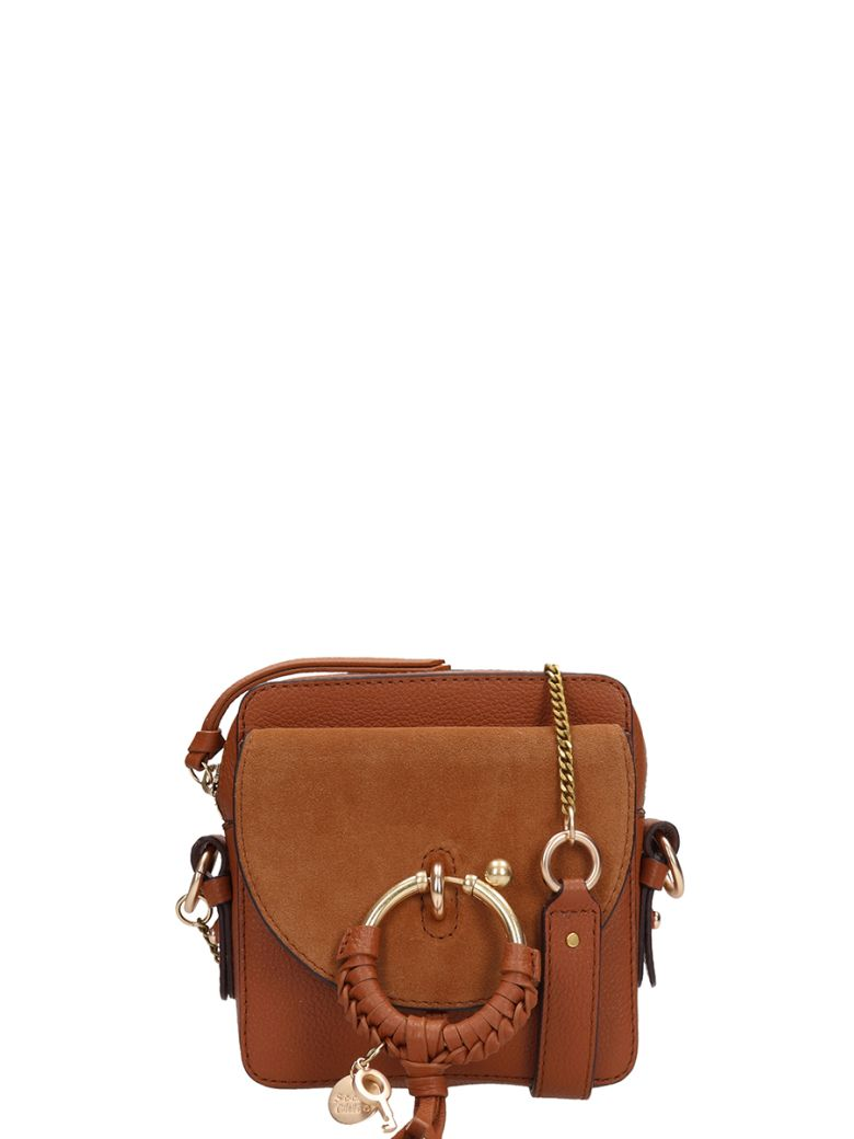 See by Chloé Brown Leather And Suede Joan Mini Bag In Suede - leather color