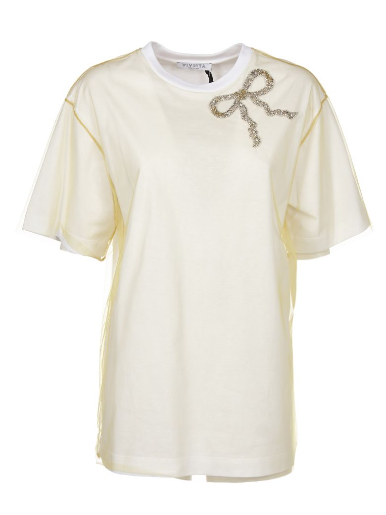 Vivetta Embellished T-shirt - Yellow