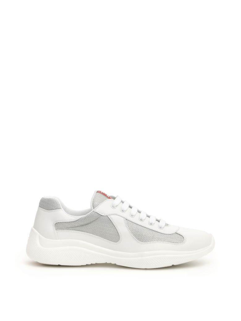 Prada America's Cup Sneakers - BIANCO ARGENTO (White)