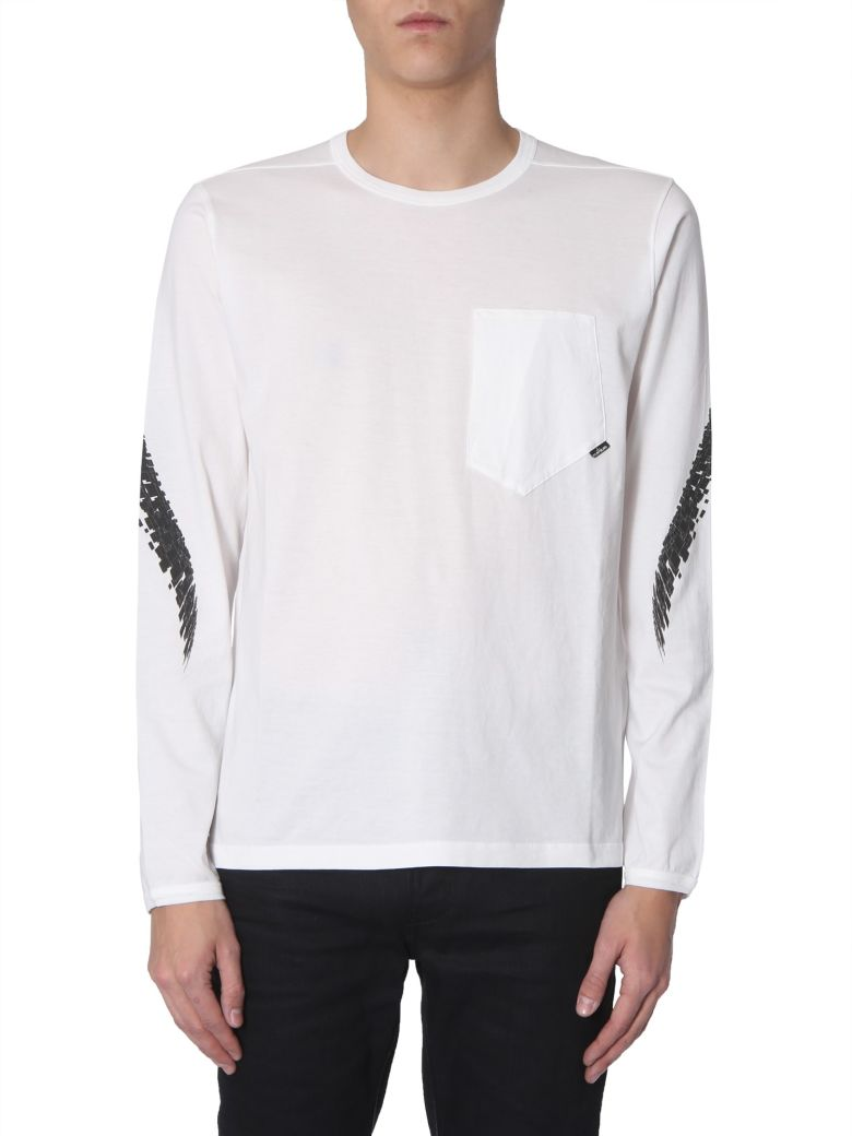 Stone Island Shadow Project Long Sleeve T-shirt - BIANCO