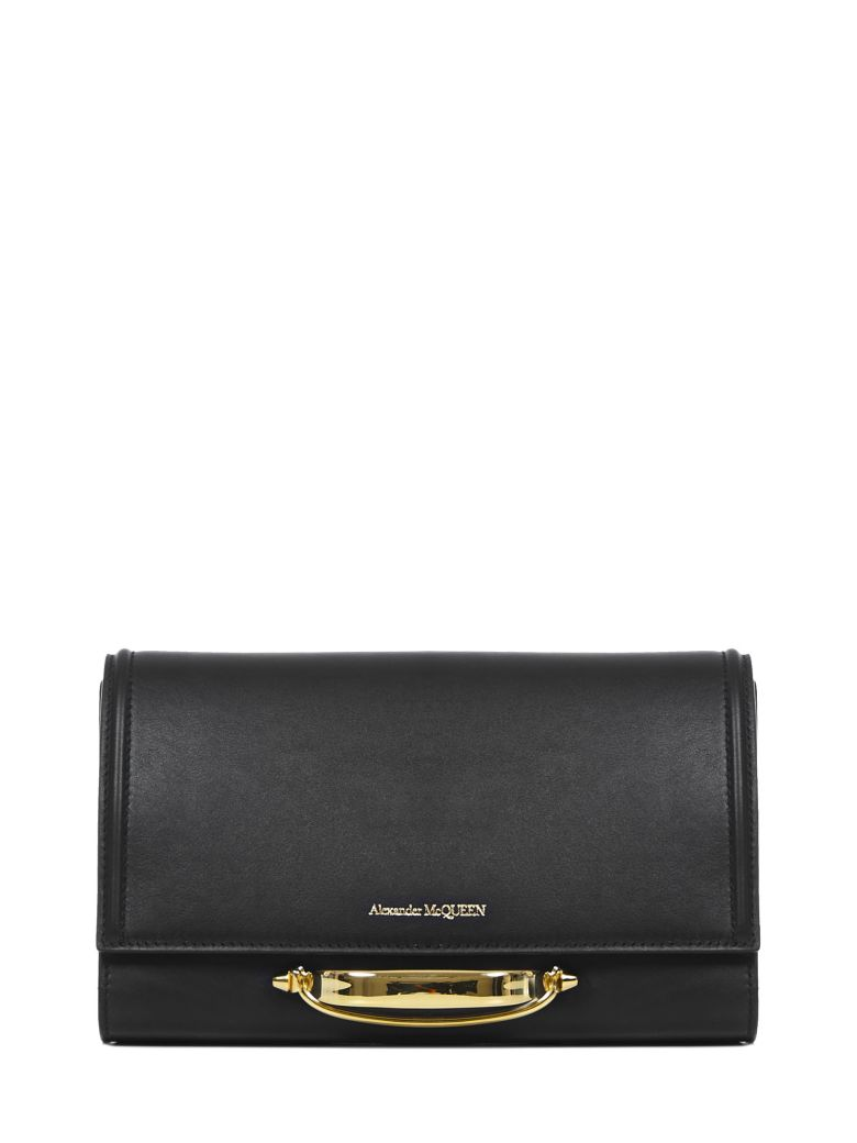 Alexander McQueen The Story Clutch - Black/red