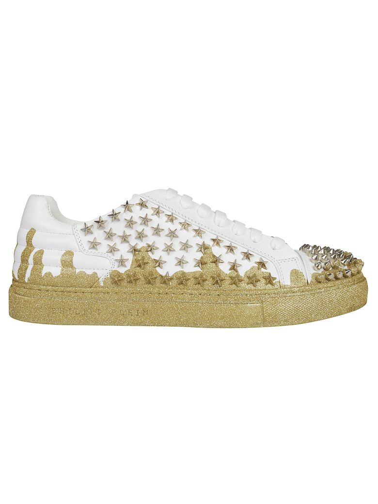 Philipp Plein Low-top Studded Sneakers - White