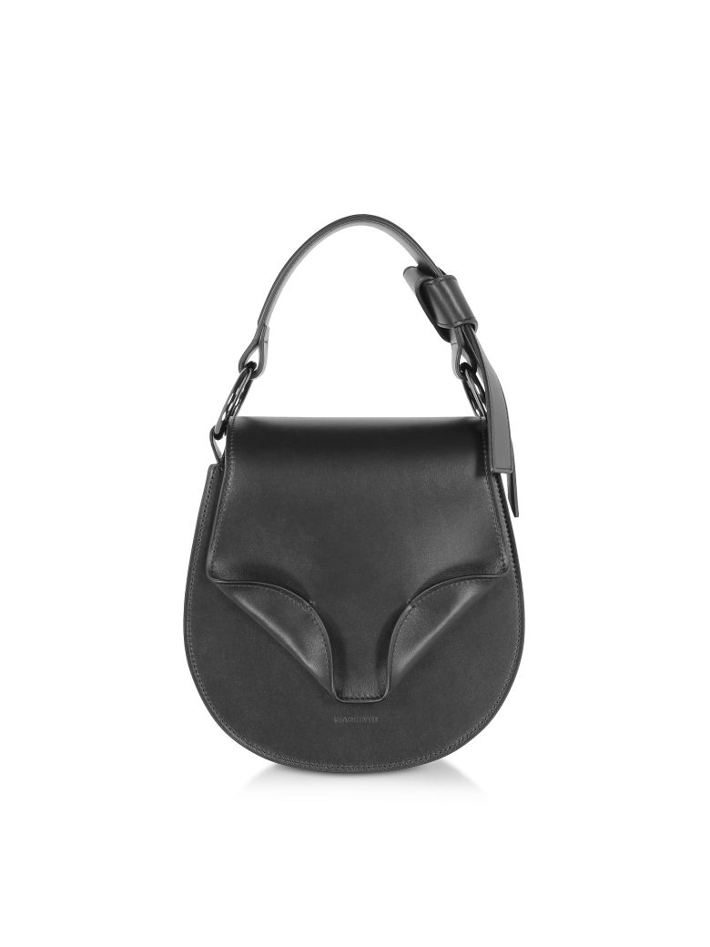 Giaquinto Leather Daphne Mini Shoulder Bag - Black