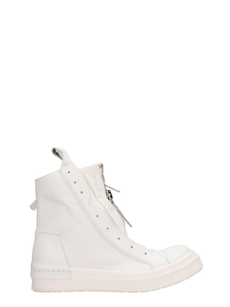 Cinzia Araia White Leather High Top Sneakers - white