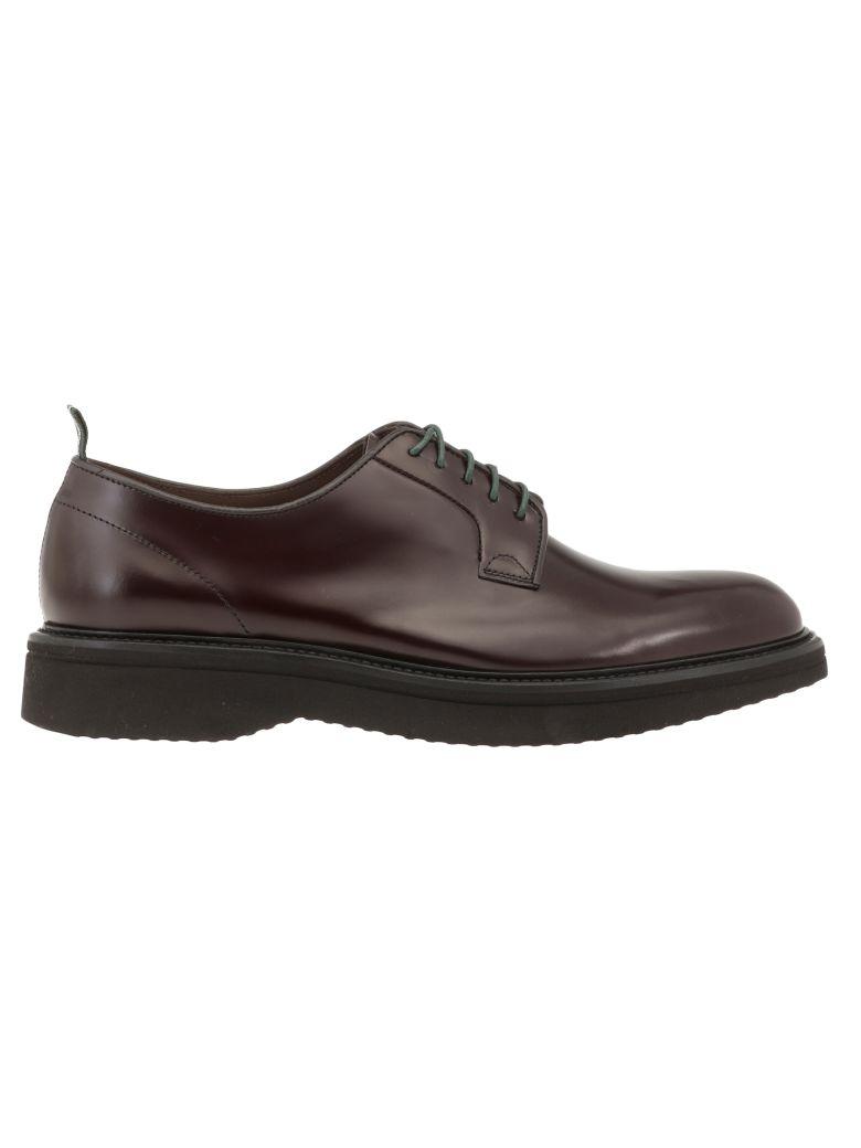 Green George Leather Lace-up Shoe - Bordeau