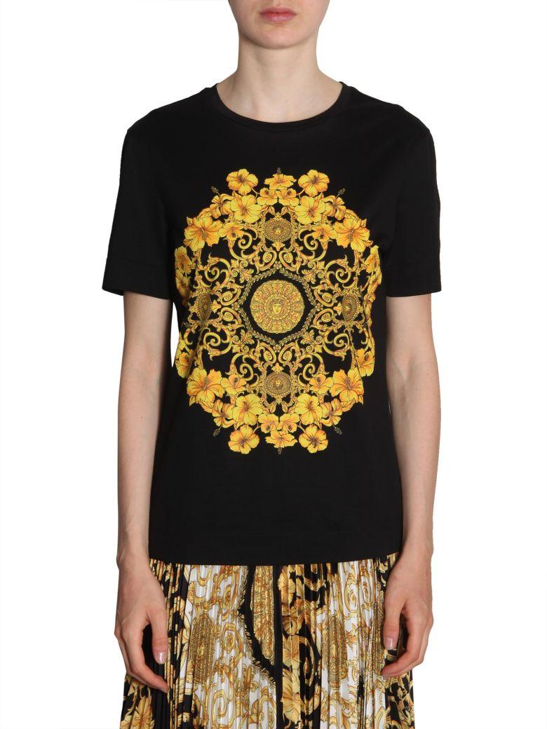 Versace Baroque Printed T-shirt - NERO