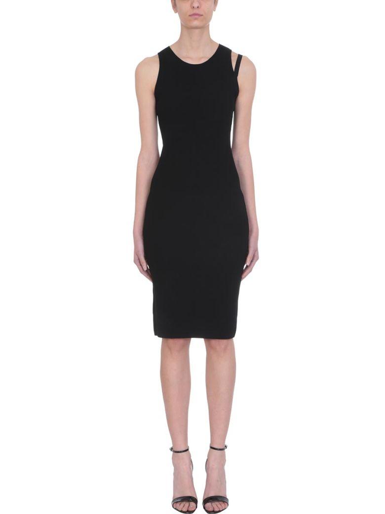 Helmut Lang Parachute Black Viscose Dress - black