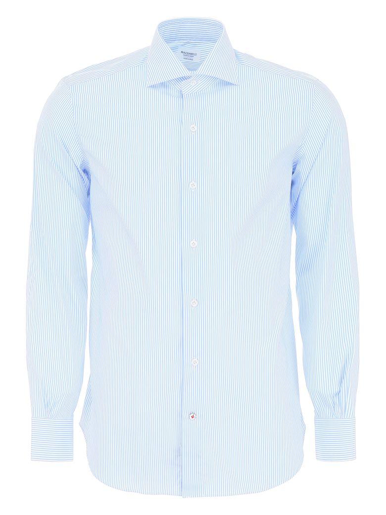 Mazzarelli Striped Shirt - BIANCO CELESTE (Light blue)