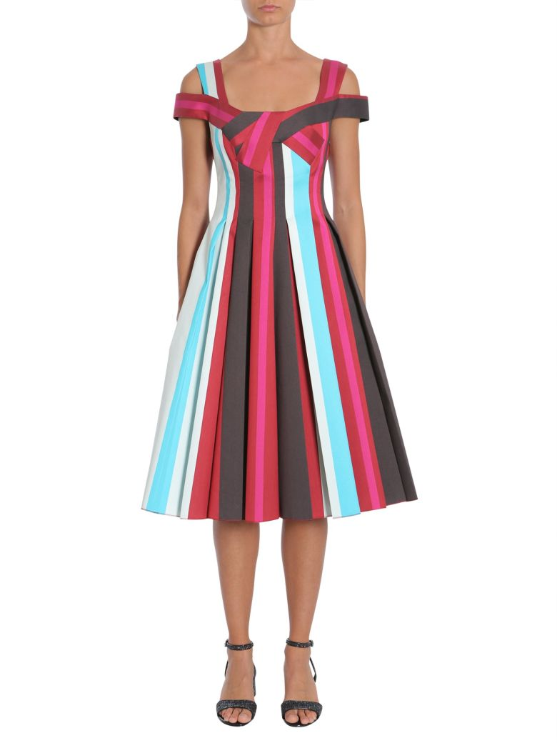 Paule Ka Striped Dress - MULTICOLOR