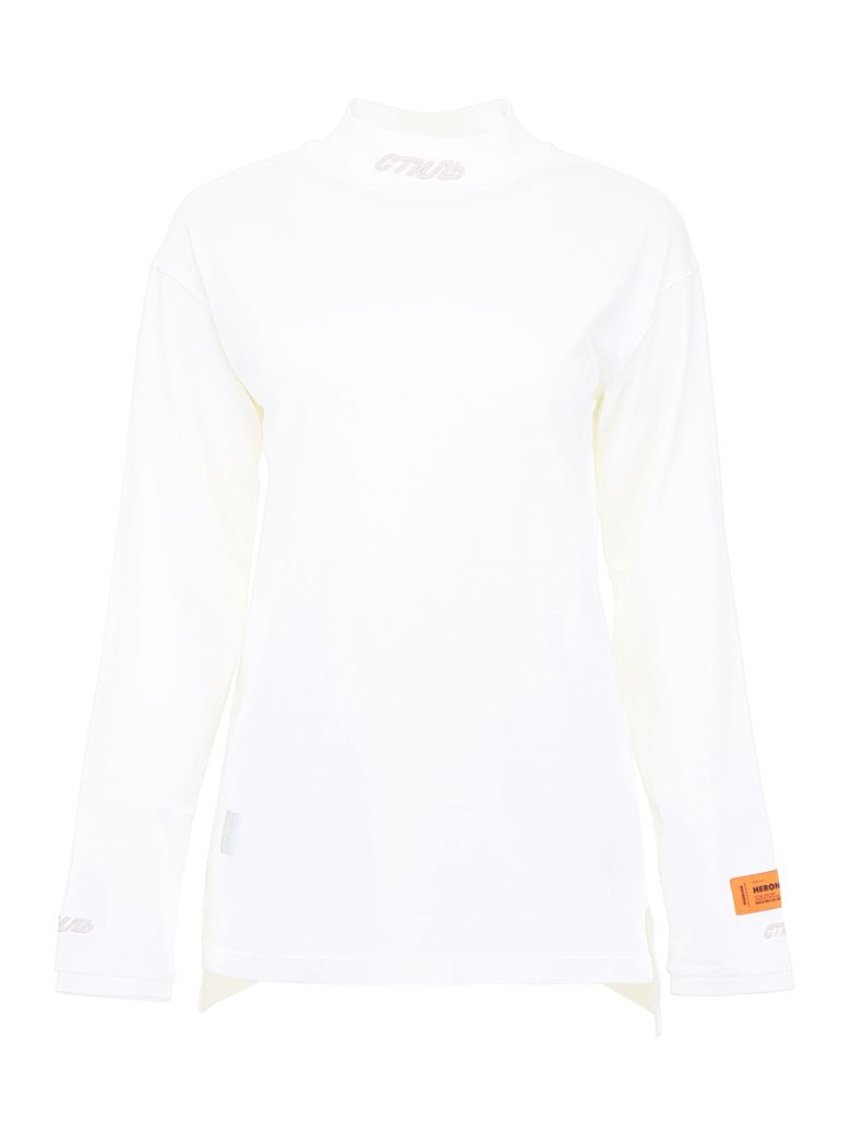 HERON PRESTON Long-sleeved T-shirt - WHITE WHITE|Bianco