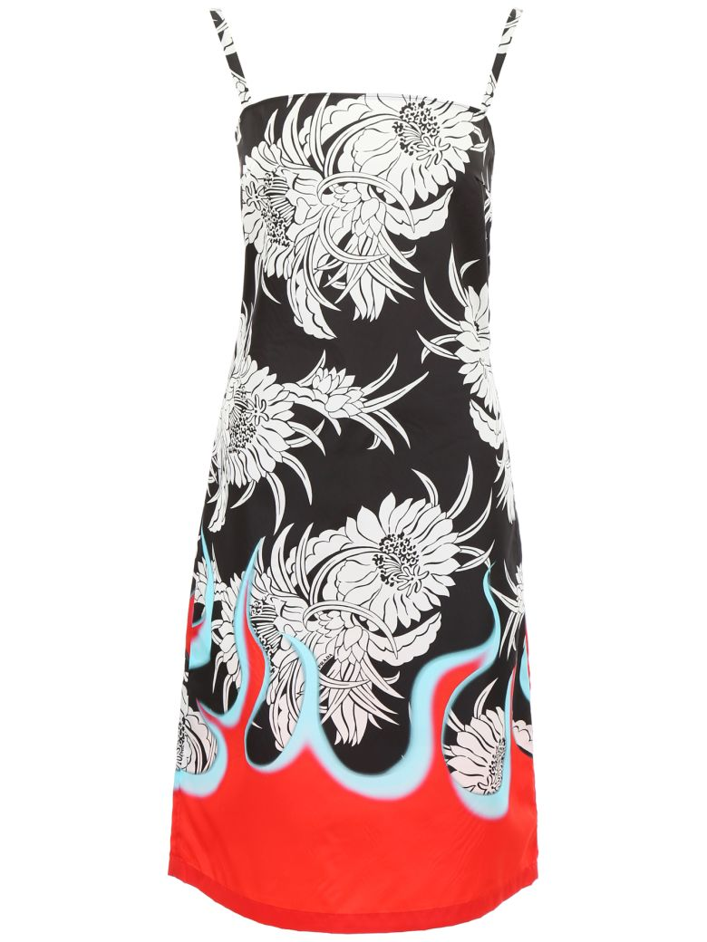 Prada Linea Rossa Clueless Hawaii Dress - NERO ROSSO Rosso