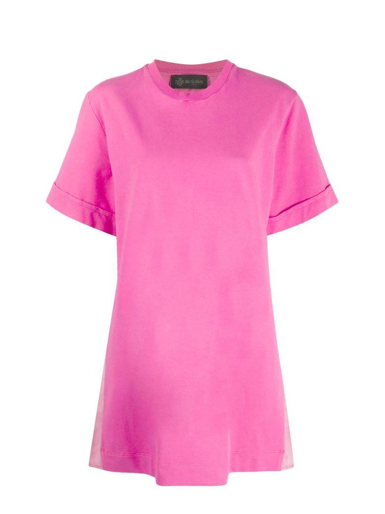 Mr & Mrs Italy Mini Dress With Plisse' - FUXIA