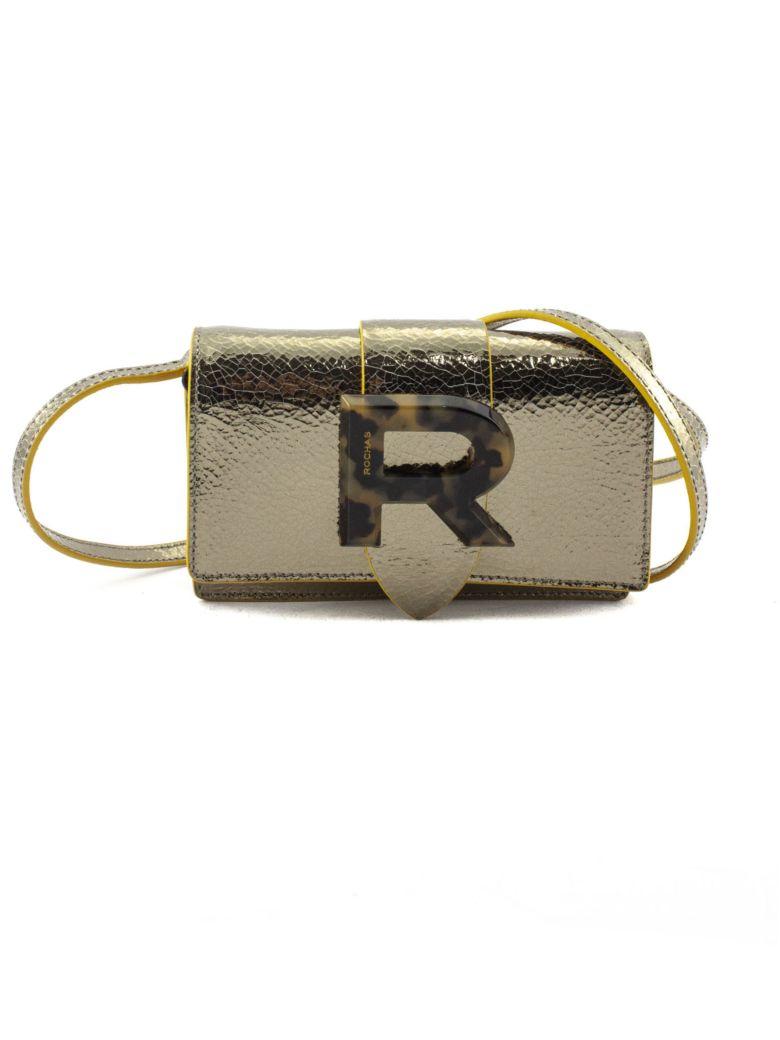 Rochas Gold-tone Mirror Leather Bag - Oro