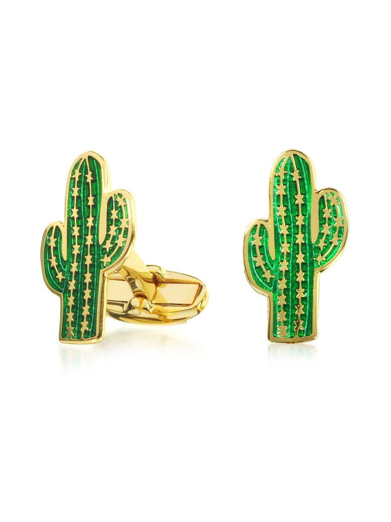 Paul Smith Men's Green Cactus Cufflinks - Green