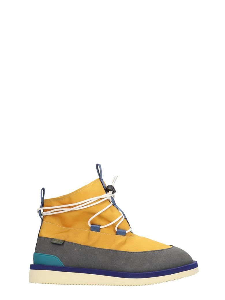 SUICOKE Hobbs  Combat Boots In Yellow Tech/synthetic - yellow