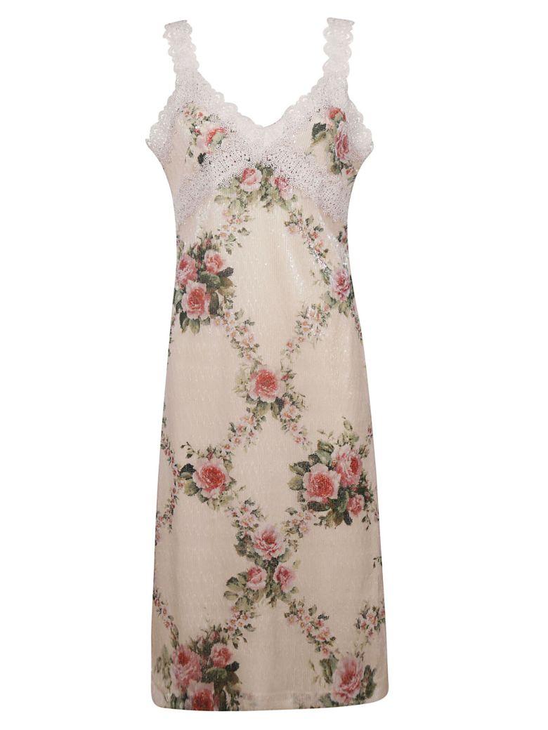 Blumarine Lace Floral Dress - Pink