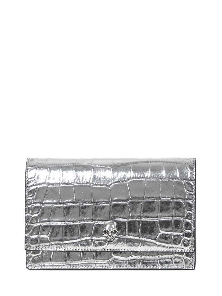 Alexander McQueen Skull Clutch - Silver