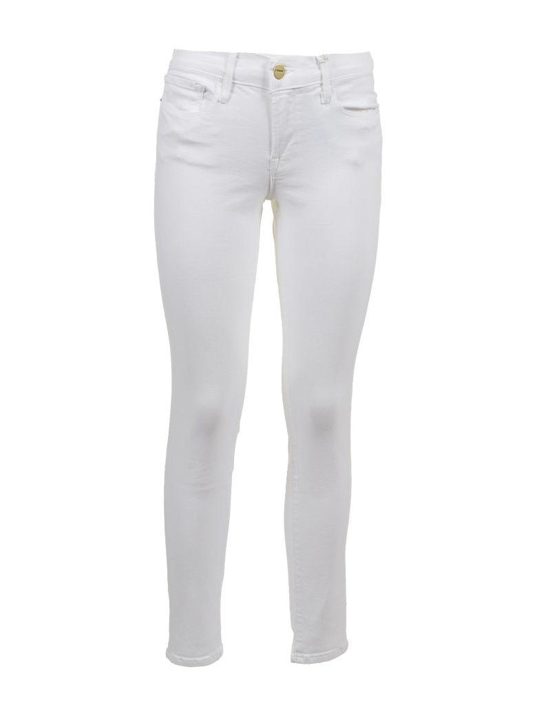 Frame Mid-rise Skinny Jeans - Bianco