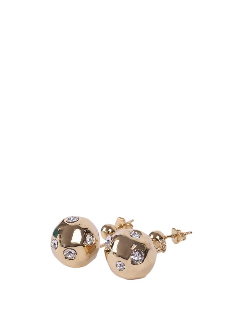 Colville Double-ball Earrings - Gold