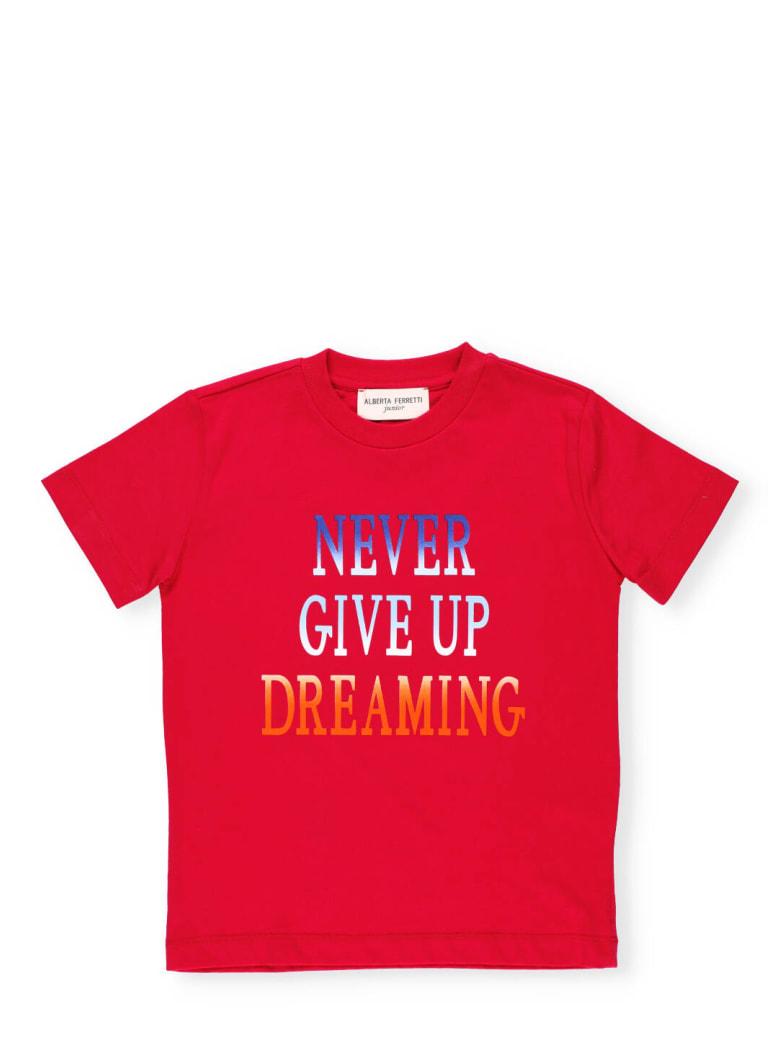Alberta Ferretti Loged T-shirt - Fuchsia