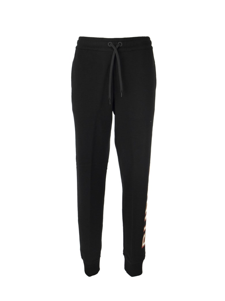 Burberry Esmee_j24 - Cotton Jogging Trousers With Logo Print - Black