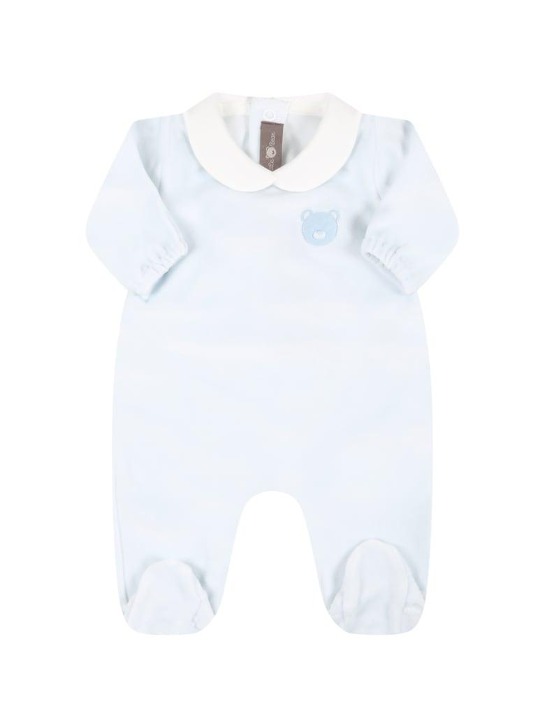 Little Bear Light Blue Babygrow For Baby Girl With Bear - Light Blue