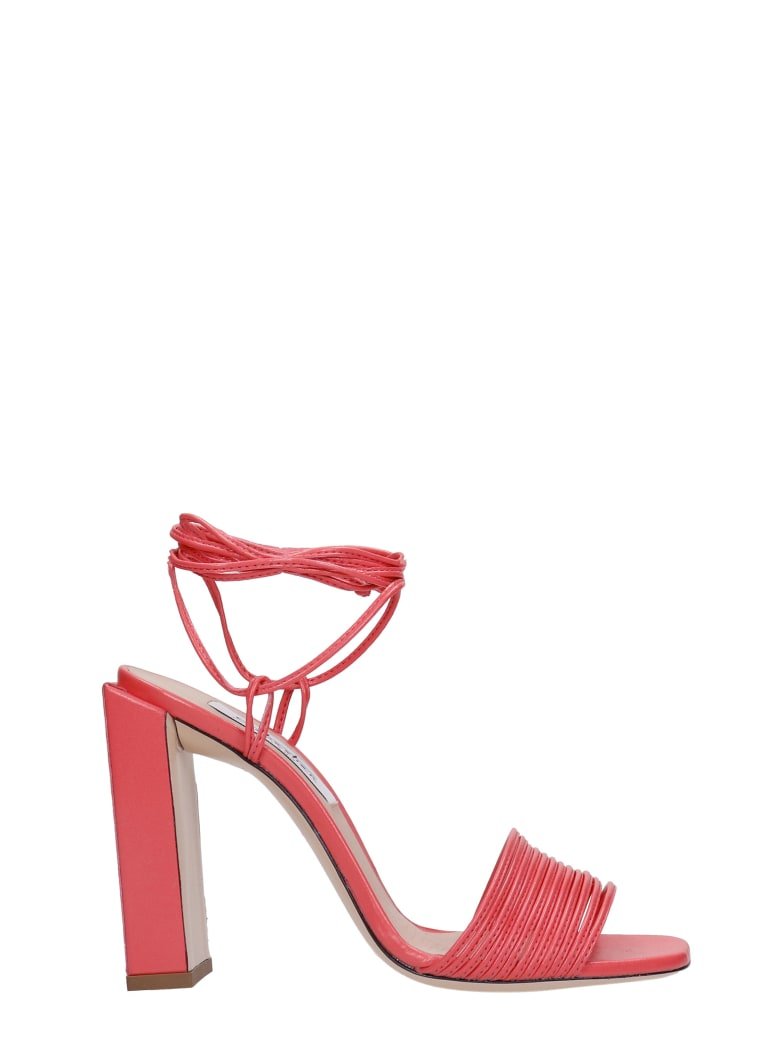 Sebastian Milano Sandals In Red Leather - red