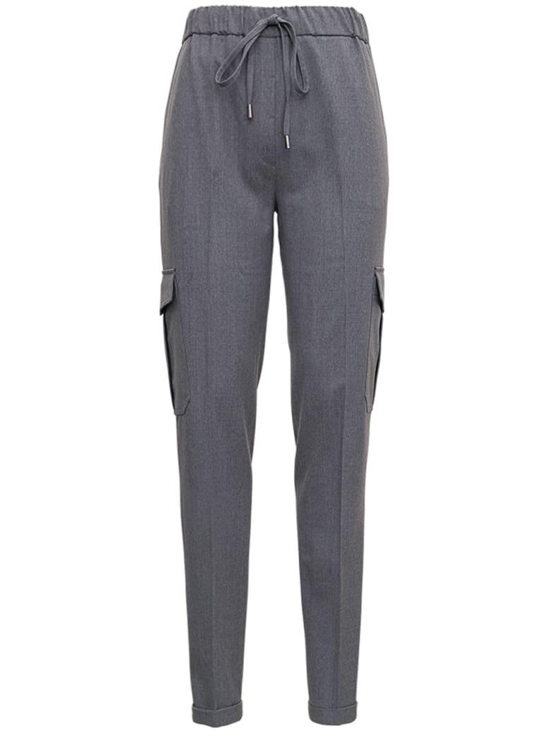 Antonelli Gray Pants In Wool Blend - Grey