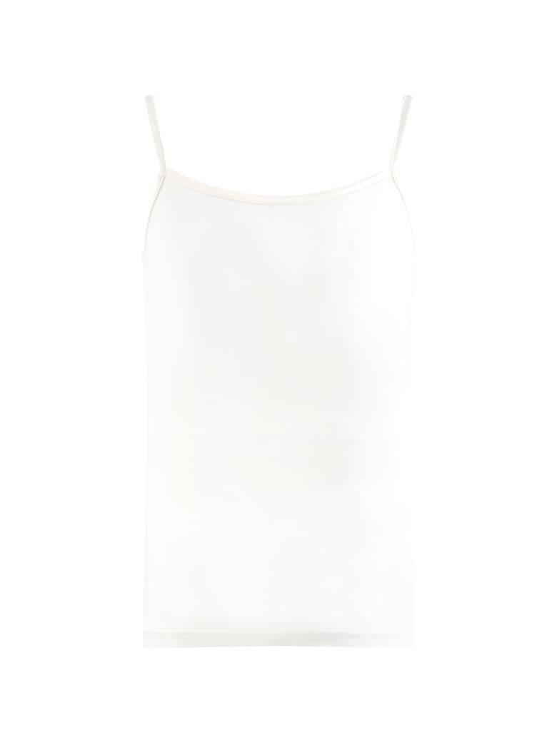 La Perla Ivory Tank Top For Girl - Ivory