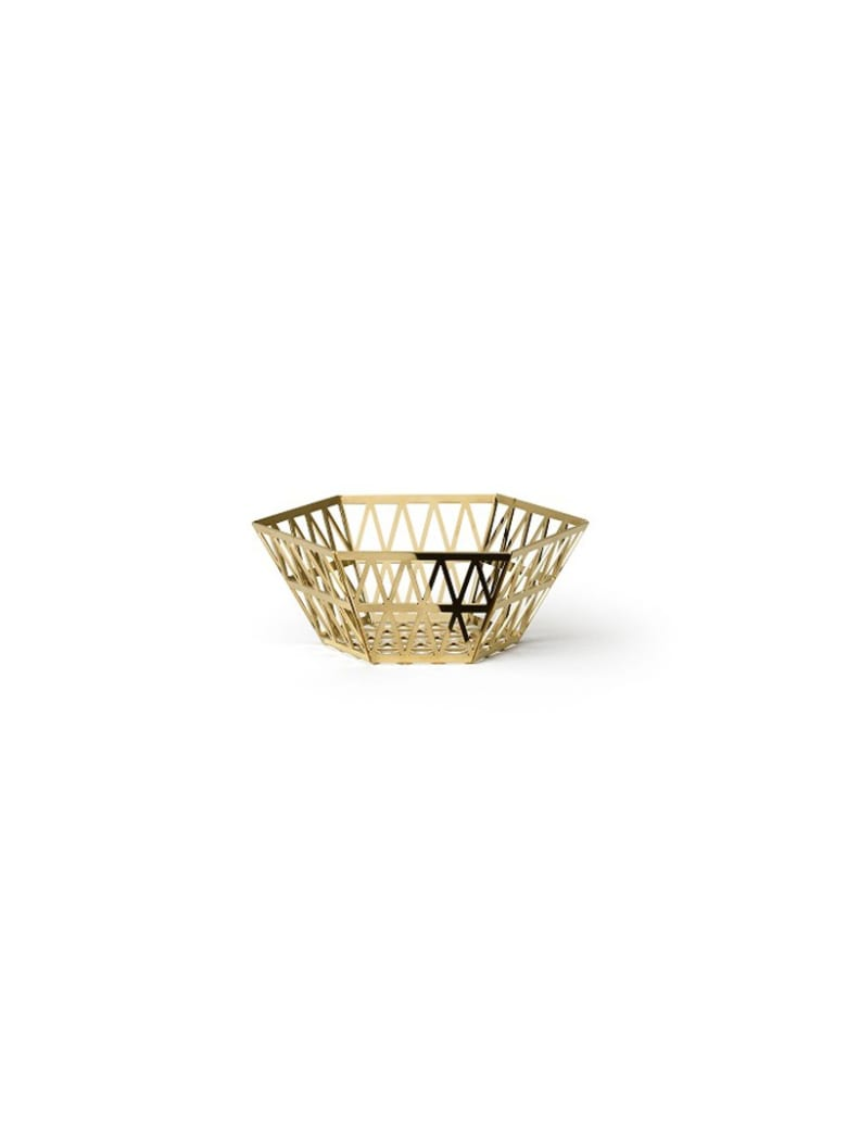 Ghidini 1961 Tip Top - Tall Tray Polished Gold - Polished gold