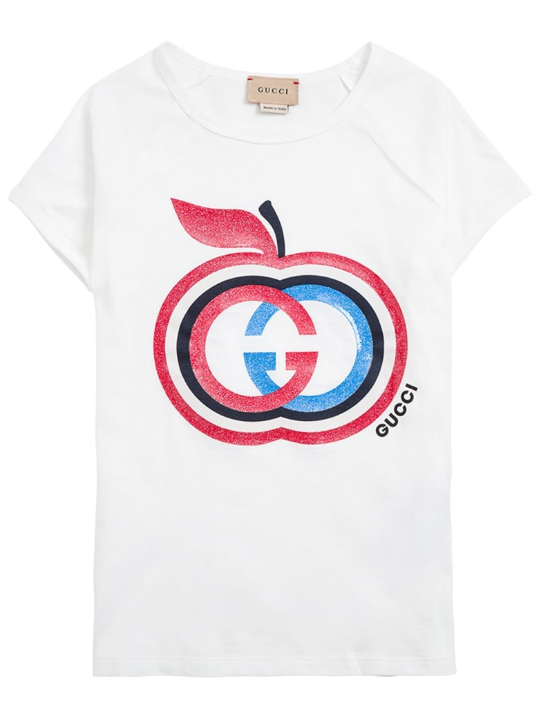 Gucci Cotton T-shirt With Gg Print - White